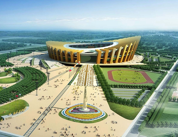 Ordos sports center line project